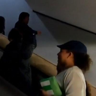 Joven forcejea y pide ayuda en el Metro tras presunto intento de secuestro; detienen a 2