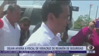 Niegan acceso a fiscal de Veracruz a reunión de seguridad