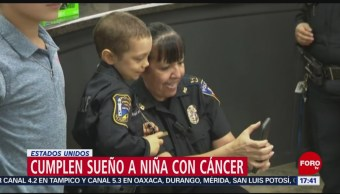 Foto: Niña con cáncer cumple su sueño de ser policía en EU