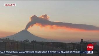 FOTO: Nueva explosión en el volcán Popocatépetl, 16 febrero 2019