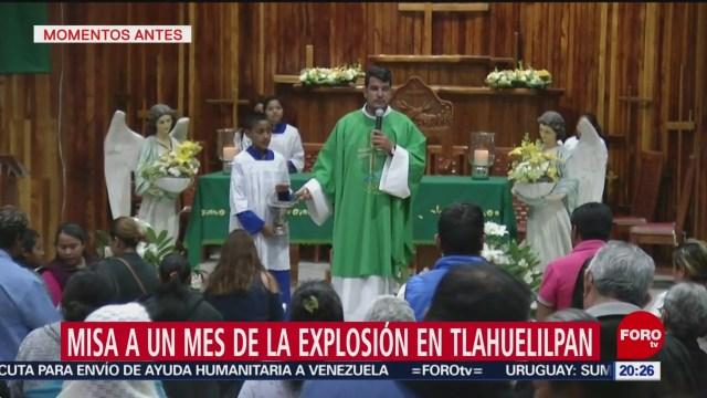 Foto: Misa Víctimas Explosión Tlahuelilpan 18 de Febrero 2019