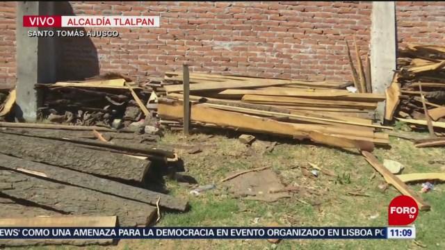 Operativo contra aserraderos clandestinos en el Ajusco