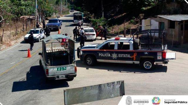 Foto: Operativo de seguridad en Guerrero, 1 de febrero de 2019. Twitter @SSPGro