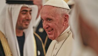Foto: El papa Francisco llegó a Abu Dabi, capital de Emiratos Árabes Unidos, 3 febrero 2019.