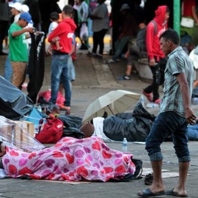 Impiden que migrantes lleguen a Parque Central de Tapachula, Chiapas