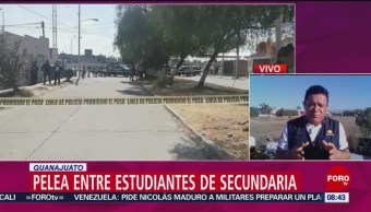 FOTO:Pelea entre estudiantes de secundaria deja un muerto en Guanajuato, 16 febrero 2019