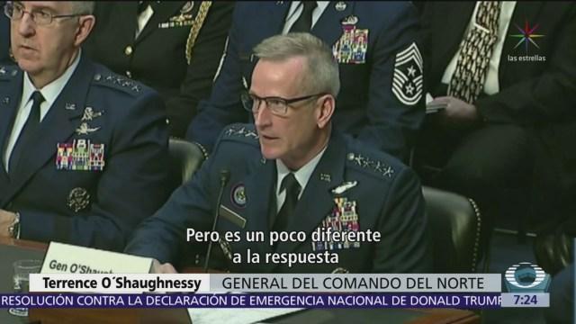 Pentágono reconoce que no existe amenaza militar en frontera con México