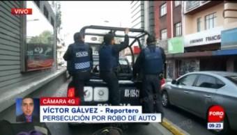 Persecución por robo de auto en la CDMX