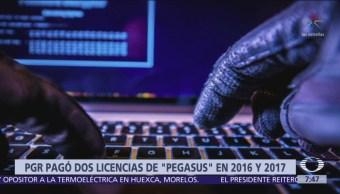 PGR pagó por licencias de uso de Pegasus en 2016