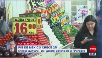 PIB de México crece dos por ciento, comenta Enrique Quintana