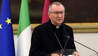 Foto: El cardenal Pietro Parolin, secretario de Estado vaticano, durante su participación en una cumbre internacional en Roma, Italia, 8 febrero 2019