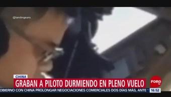 Foto: Piloto de avión se queda dormido en el aire
