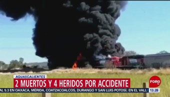 Foto: Pipa choca y explota en Aguascalientes