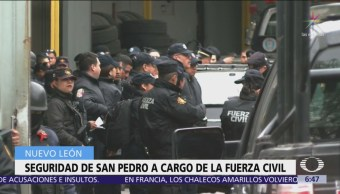 Policía Estatal asume la seguridad en San Pedro, Nuevo León