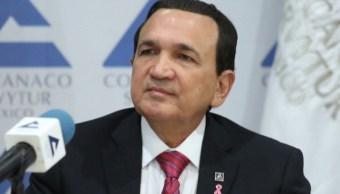 Foto: José Manuel López Campos, presidente de la Confederación Nacional de Cámaras de Comercio, Ciudad de México, febrero 6 de 2019 (Twitter: @Concanaco)