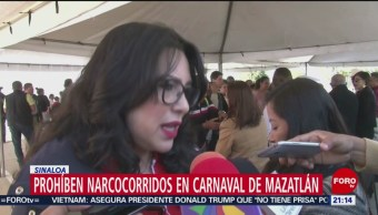 Foto: Prohíben Narcocorridos Carnaval Mazatlán Sinaloa 27 de Febrero 2019