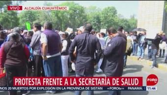 Foto: Protesta frente a la Secretaría de Salud, en CDMX
