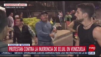 FOTO: Protestan contra injerencia de EU en Venezuela en CDMX, 23 febrero 2019