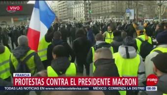 Protestas contra el presidente Macron