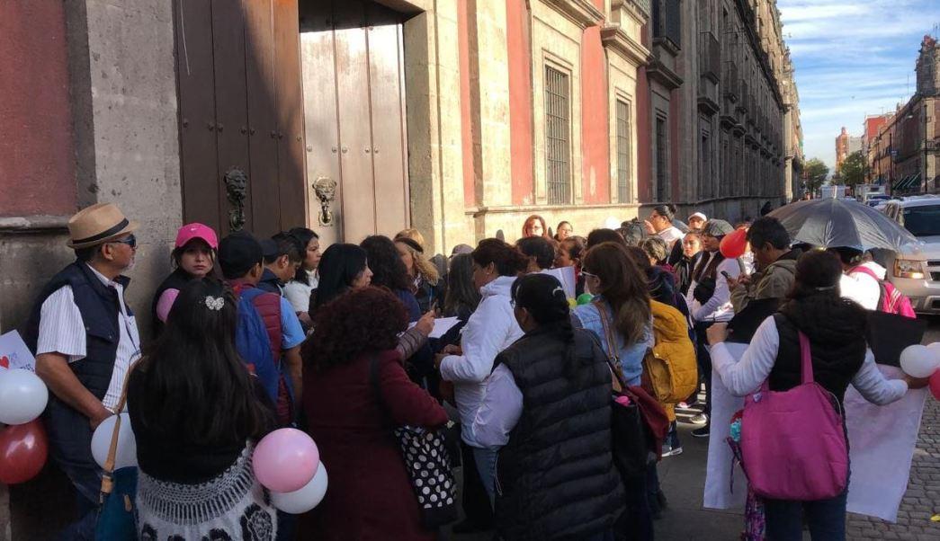 Foto: Educadoras en Zócalo CDMX, el 22 de febrero 2019