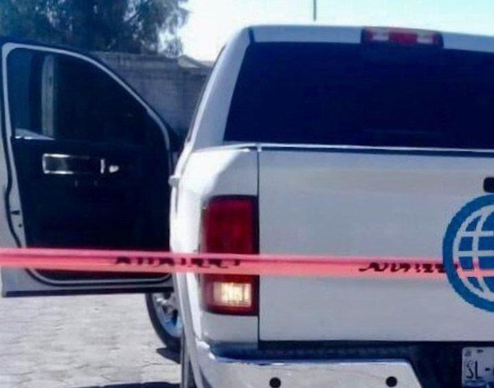 Foto: Escena del crimen de dos policías que fueron ejecutados en Los Reyes de Juárez, Puebla, febrero 10 de 2019 (Twitter: @ATlatelpaTobon)