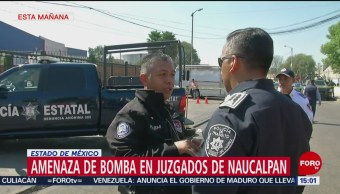 Foto: Reanudan actividades en juzgados de Naucalpan tras amenazas de bomba