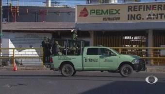 Foto: Refuerzan Vigilancia Refinería Salamanca Guanajuato 01 de Febrero 2019
