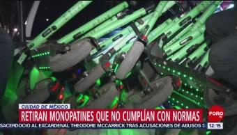 FOTO: Retiran monopatines que no cumplían con normas en CDMX, 16 febrero 2019