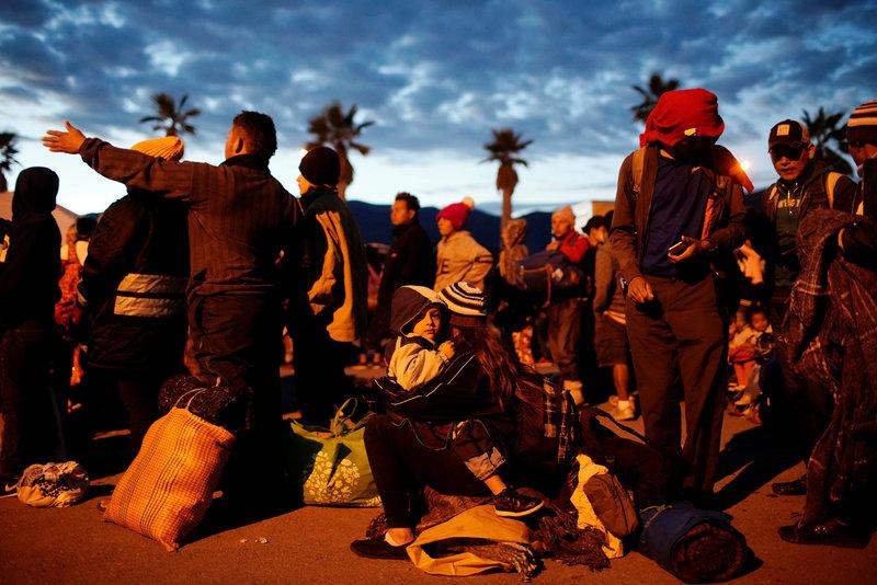 grupo de migrantes centroamericanos llega veracruz