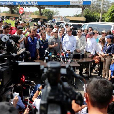 Marco Rubio pide en Cúcuta dejar pasar ayuda a Venezuela