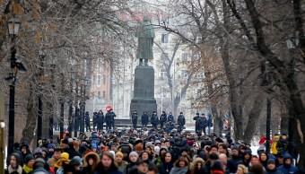 Foto: Miles de personas marcharon eN Moscú para exigir la libertad de los presos políticos, 10 febrero 2019