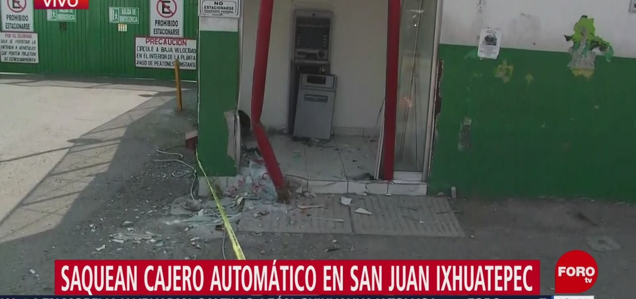 Foto: Saquean Cajero Automático San Juan Ixhuatepec 13 Febrero 2019