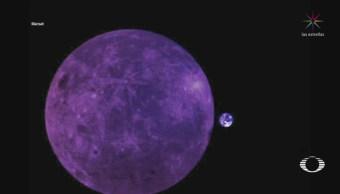 Foto: Tierra Junto Lado Oculto Luna 6 de Febrero 2019