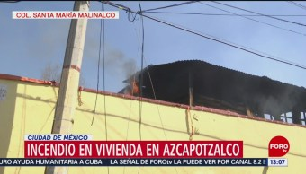FOTO: Se incendia vivienda en Azcapotzalco, Ciudad de México, 10 febrero 2019