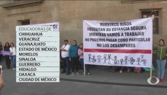Foto: Manifiestan Recorte Estancias Infantiles Palacio Nacional 05 de Febrero 2019