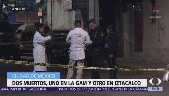 Se registran dos homicidios durante la madrugada en la CDMX