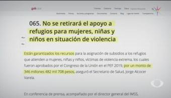 Foto: Secretaría De Salud Desmiente Apoyo Refugios Mujeres 20 de Febrero 2019