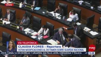 Foto: Senado vota modificaciones al dictamen sobre Guardia Nacional