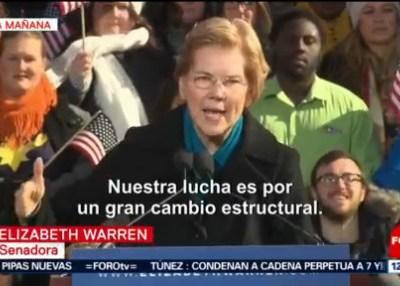Senadora Warren lanza su campaña presidencial en EU para 2020