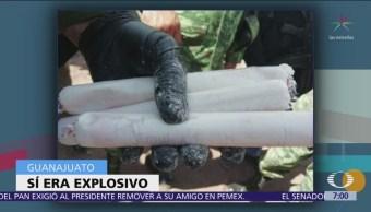 Sí era explosivo artefacto localizado en refinería de Salamanca, confirma Sedena