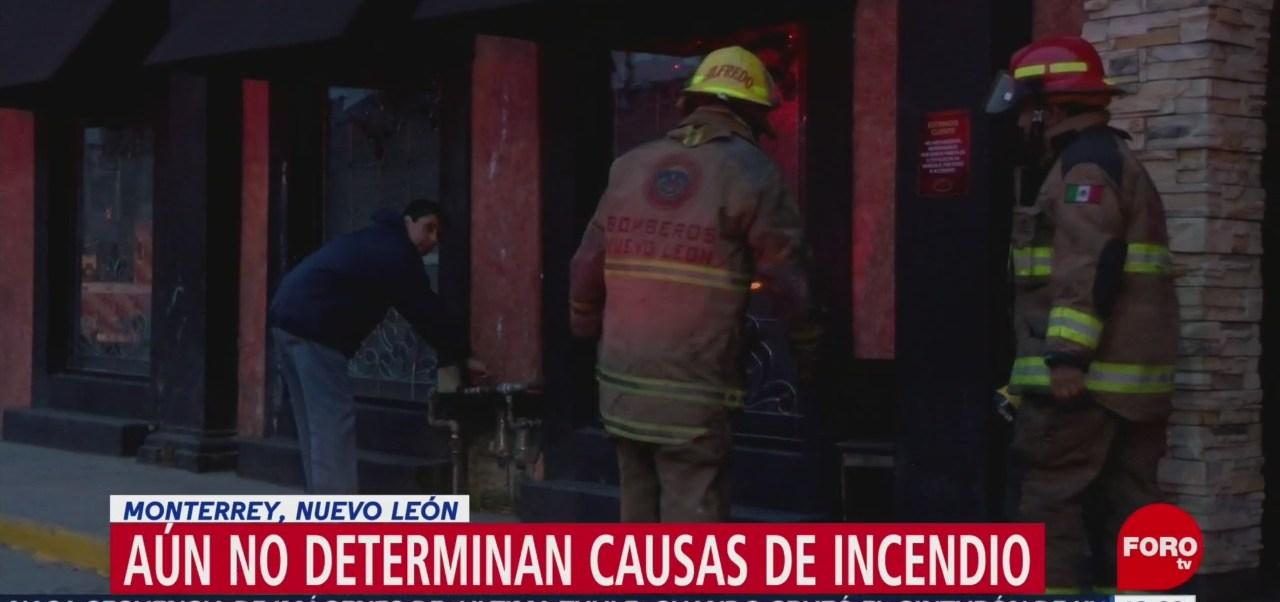 Sigue acordonada zona de restaurante incendiado en NL