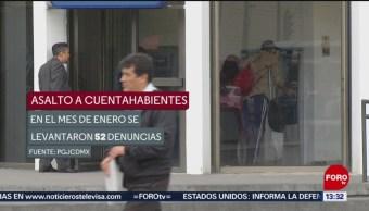 Fotos: Sin freno el asalto a cuentahabientes en la CDMX