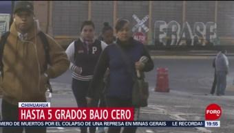FOTO: Temperaturas congelantes en municipios de Chihuahua, 2 febrero 2019