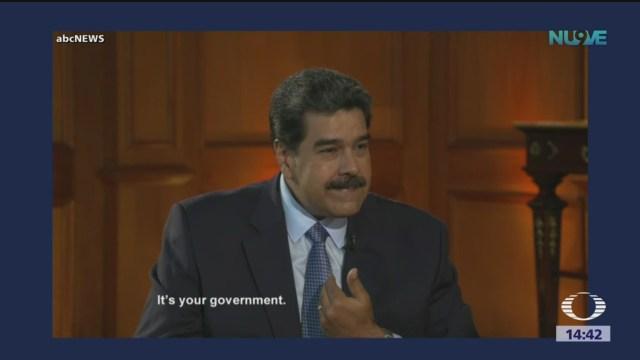 Foto: Tensión durante entrevista a Nicolás Maduro