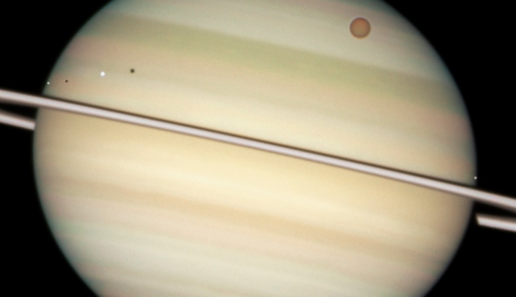 Foto Saturno Satélites 26 Febrero 2019
