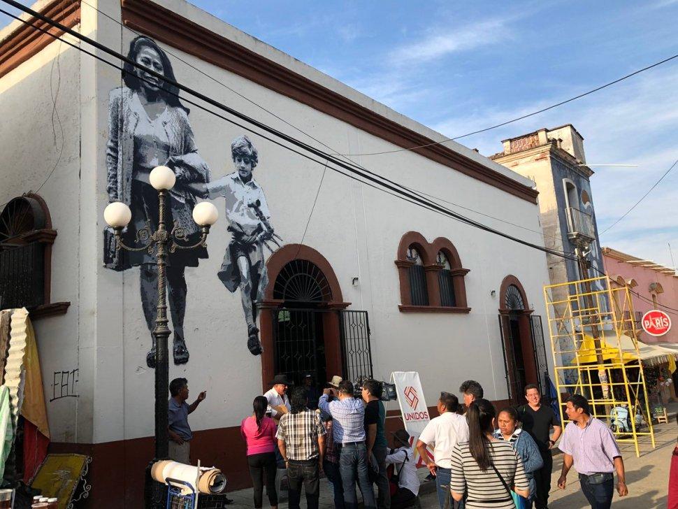 Foto: Tlaxiaco celebra a Yalitza Aparicio y devela mural 25 febrero 2019