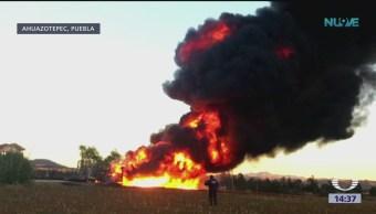 Foto: Toma clandestina provoca explosión en ducto de Pemex en Pueblav