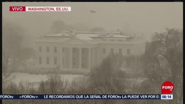 Tormenta invernal afecta Washington y Baltimore