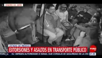Foto: Transporte Público Estado De México Asaltos 14 de Febrero 2019