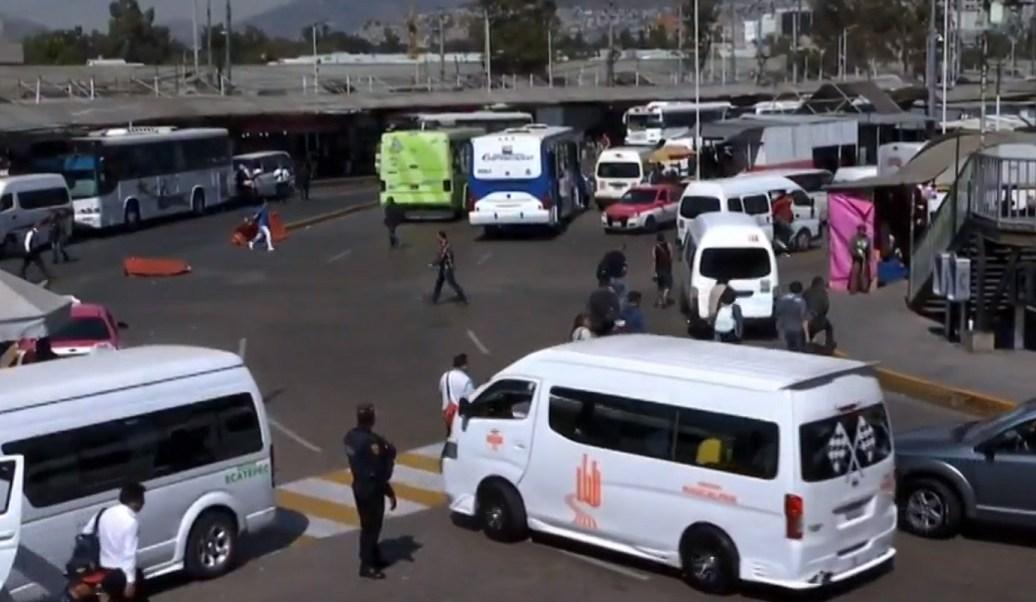 Robo transporte público Valle México pan todos días